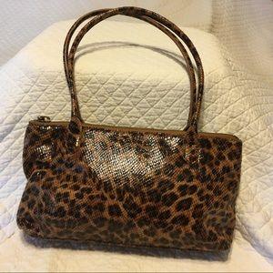 Hobo brand leopard print bag.